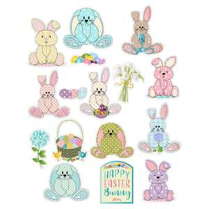 bunnies planner stickers