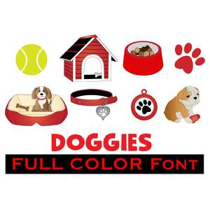 full-color doggy dingbats font