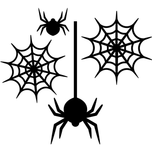 4-pc halloween spider set