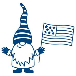 gnome with flag