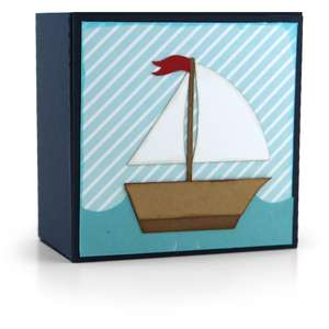 gift box sailboat