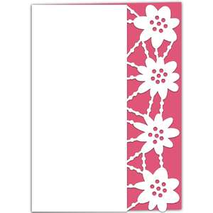 midsummer flower lace edged card