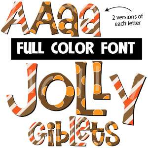 jolly giblets color font