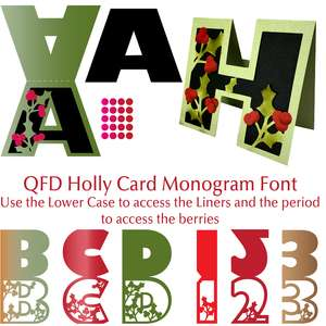 qfd holly card monogram font
