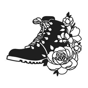 hiking boot flowers