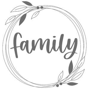 family foliage frame