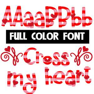 cross my heart color font