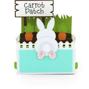 rectangle pop up card birthday carrot patch
