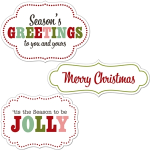 3 print & cut christmas labels