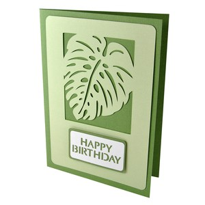 palm leaf happy birthday