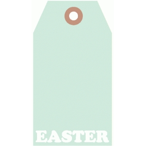 easter word luggage tag