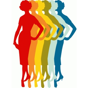 rainbow silhouette ladies
