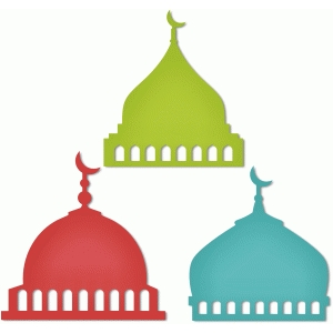 3 mosque's domes