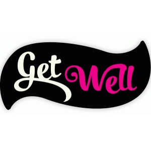 get well soon label
