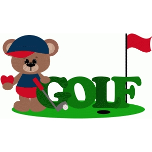 i love golf bear golfing