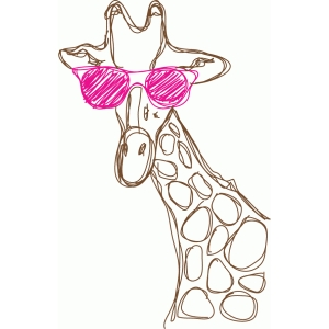 cool giraffe sketch