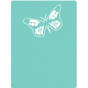 butterfly outline journaling card