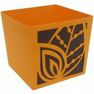 fall leaves candy box