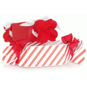 candy wrapper box with heart ends
