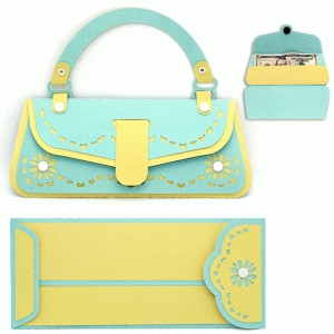 purse card/envelope set money holder
