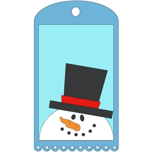 gift tag with snowman