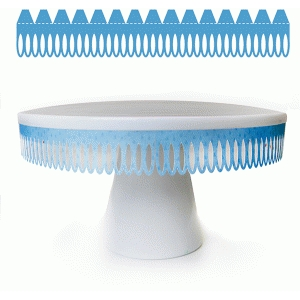 oval drop cake stand embellishment