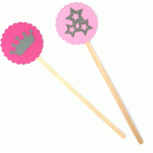 princess wands/cake toppers