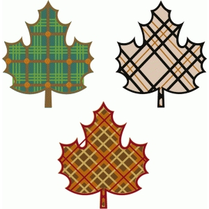 plaid leaves