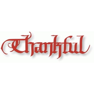 thankful - calligraphy