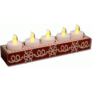 3d snowflake 5 count tealight holder