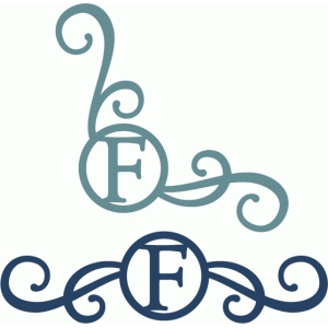 monogram seal flourishes f