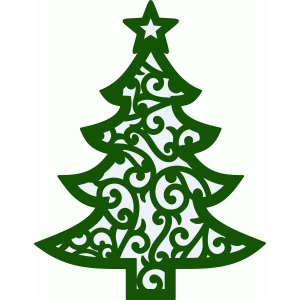 christmas tree damask