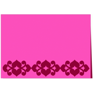 heart border valentine day card