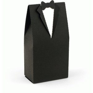 3d wedding tuxedo favor box