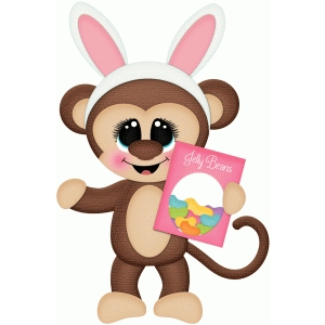 easter monkey w candy