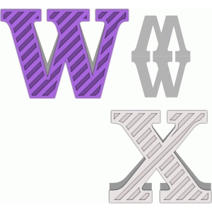 shaped letter card w-x