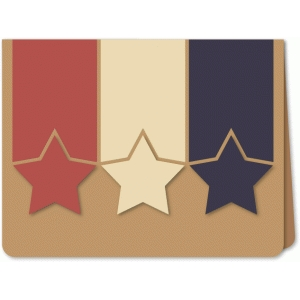 stars & bands trio a6 card
