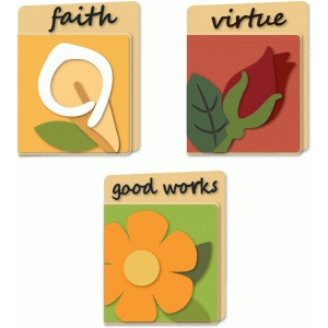 flower values a6 cards faith
