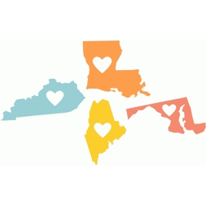 state love ky, la, me, md