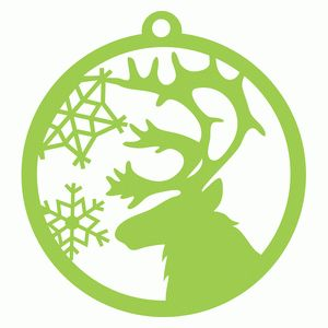 winter reindeer ornament