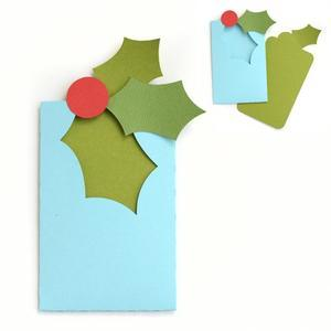 christmas holly gift card envelope