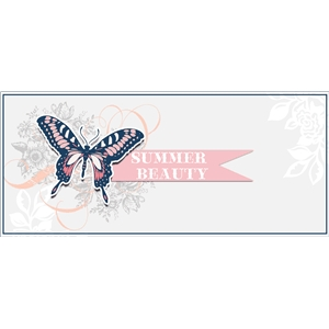summer junque butterfly tag