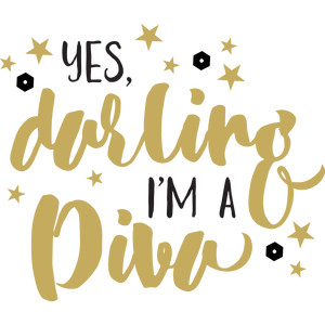 baby t-shirt: yes darling, i'm a diva