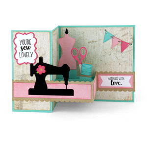 pop up box card sewing
