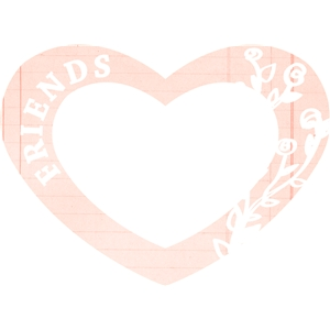 heart friends frame