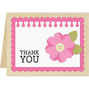 a2 thank you flower card