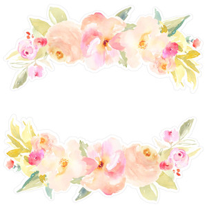 watercolor flower laurel