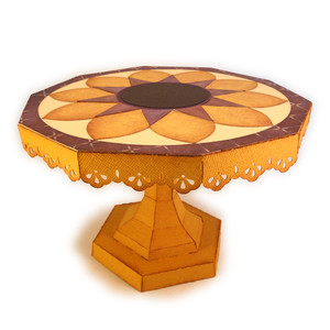 sunflower 3d cake stand