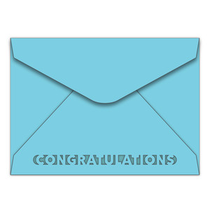 a7 envelope with congratulations