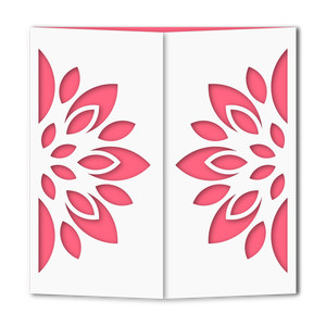 floral gate fold card